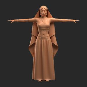 3D woman indian