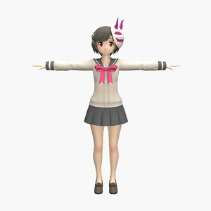 anime rigged games 3D model