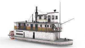 old ship 01 3D model