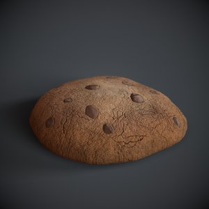 chip pbr unwrapped 3D model