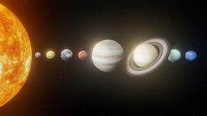 photorealistic solar 8k planets 3D model