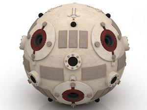 star wars training droid 3D model