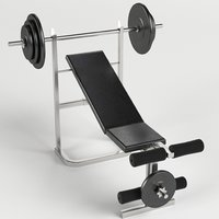 Gym equipment bench weight