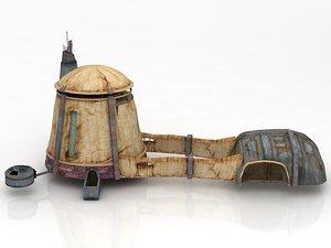 star wars architecture tatooine 3D model