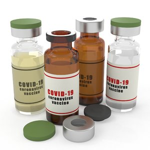 real vaccine bottle 3D model