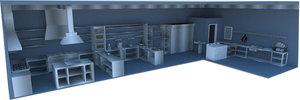 commercial kitchen model