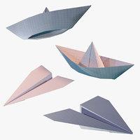 Paper Plane & Ship