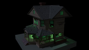 3D abandoned house