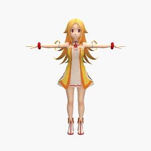 3D model anime risu