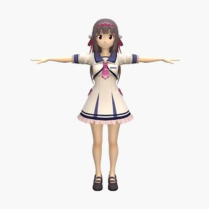 anime shinobu nurse 3D model