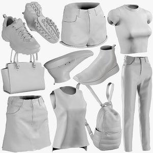 3D mesh clothing mix 12 model