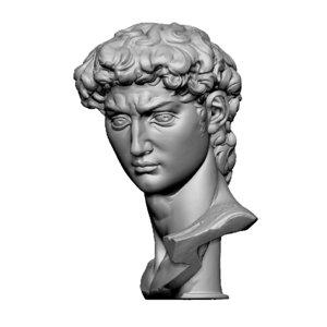 david bust michelangelo 3D