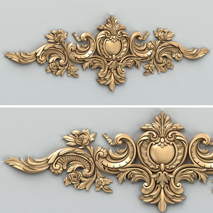 cnc carved decor horizontal 3D model