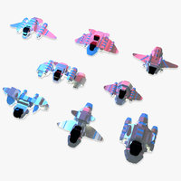 8 space shooter starships