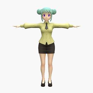 anime teacher 3D model