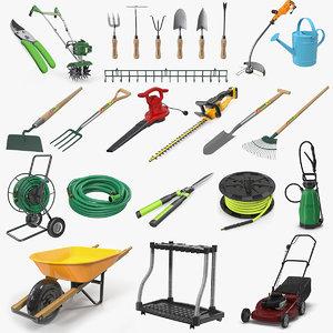 garden tools 9 3D model