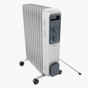 electronic heater 3D model