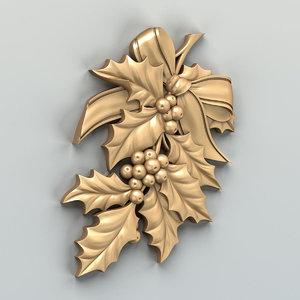 cnc carved decor 3D model