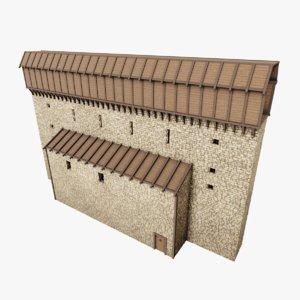 medieval wall iv 3D model