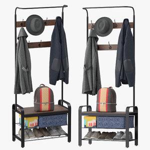 3D sunnyglade vintage coat rack model