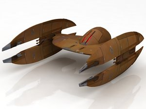 star wars trade federation 3D model
