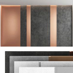3D model decorative wall panel set