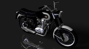 3D classic motorcycle ducati model