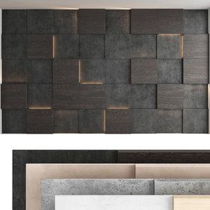 3D decorative wall panel set