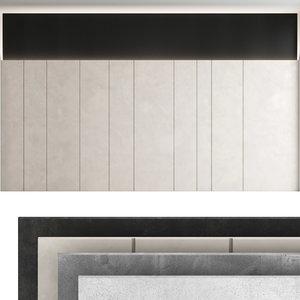 decorative wall panel set model