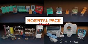 3D medical equipments - hospital bed