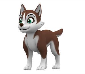 husky puppy 3D model