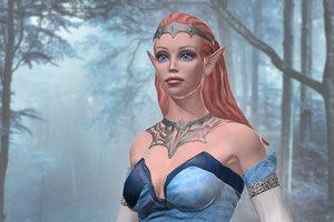 3D elf girl