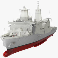Amphibious Transport Dock with Sikorsky MH 53 Pave Low Rigged