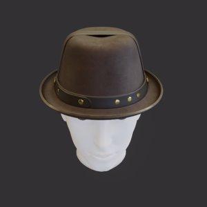 3D model hat detective