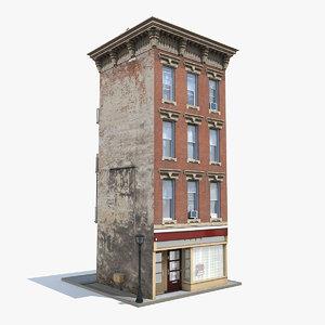 3D model old apartment