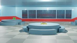 cafeteria scenario 3D
