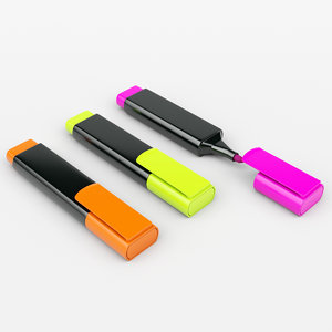 3D highlighter marker office