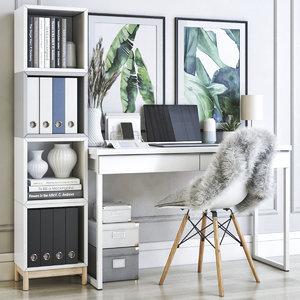 3D office desk chair