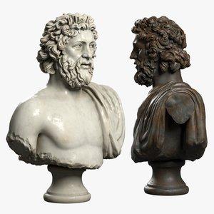 decorative bust zeus 3D
