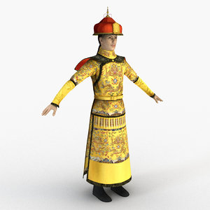 3D model chinese emperor qing dynasty