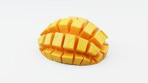 mango sliced 3D model