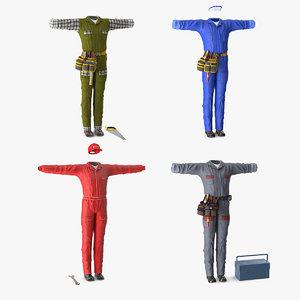 workman uniforms 2 3D model
