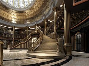 palace main entrance lobby model