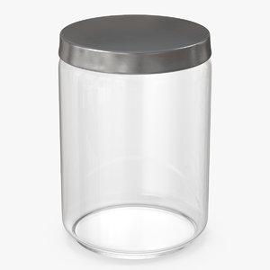 glass jar metal lid 3D model