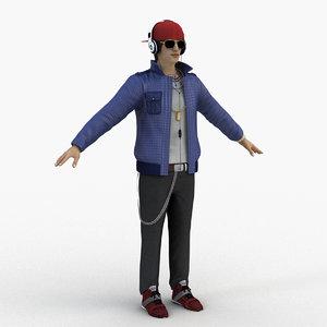 dj disc jockey 3D model