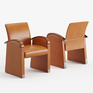 3D model arts easy chair