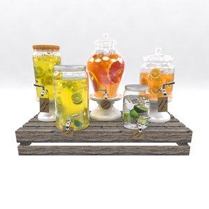 3D model lemonade set 2