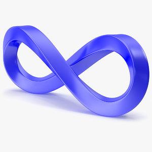 3D model infinity symbol