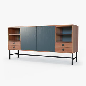 mid-century modern buffet 3D model