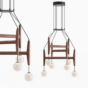 3D chandelier astra model